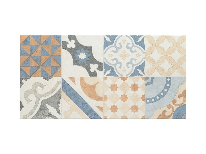 Glazura Neutral Arte 29,8 x 59,8 cm beżowa patchwork 1,07 m2 Prostokąt Powierzchnia Matowa Gres Płytki ścienne Płytki podłogowe 29,8x59,8 cm Kategoria Płytki