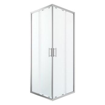 Kabina prysznicowa kwadratowa GoodHome Beloya 80 x 80 x 195 cm chrom/transparentna