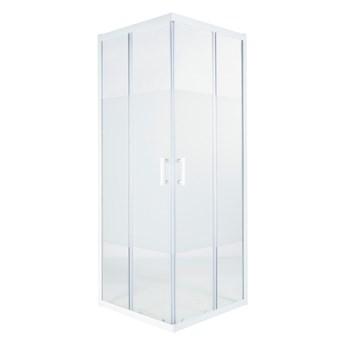 Kabina prysznicowa kwadratowa Onega 80 x 80 x 190 cm biały/wzór