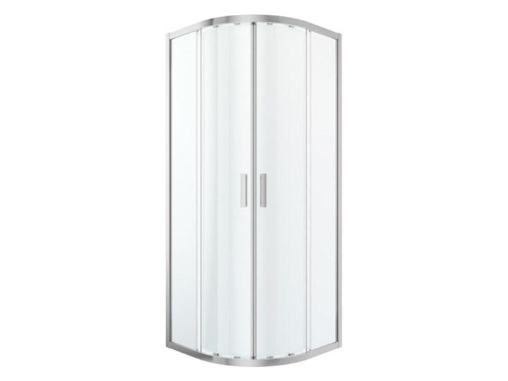 Kabina prysznicowa półokrągła GoodHome Beloya 80 x 80 x 195 cm chrom/transparentna