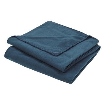 Koc 120 x 170 cm niebieski