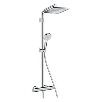 Kolumna prysznicowa HansGrohe Crometta Varia śr. 24 cm 2-funkcyjna z baterią termostatyczną