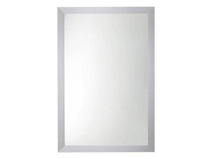 Lustro prostokątne 90 x 60 cm w ramie szare Lustro z ramą Ścienne Pomieszczenie Salon Pomieszczenie Przedpokój