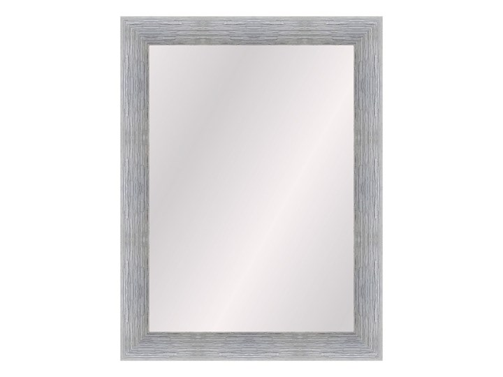Lustro prostokątne Alessia 50 x 70 cm w ramie srebrne Ścienne Lustro z ramą Pomieszczenie Salon