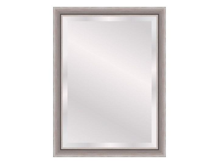 Lustro prostokątne Scandi 50 x 70 cm w ramie brązowe