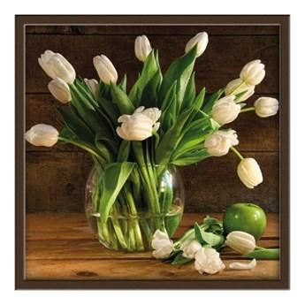Obraz 30 x 30 cm Białe Tulipany