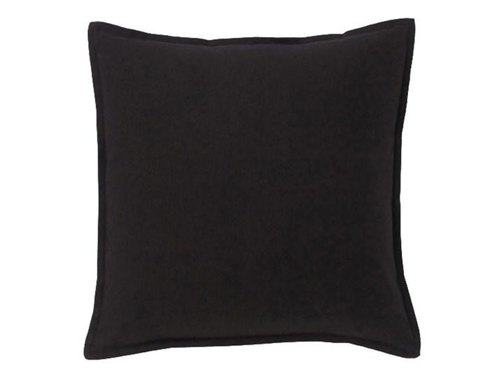 Poduszka GoodHome Hiva 45 x 45 cm czarna Poduszka dekoracyjna Kwadratowe Bawełna Poliester 45x45 cm Wzór Jednolity