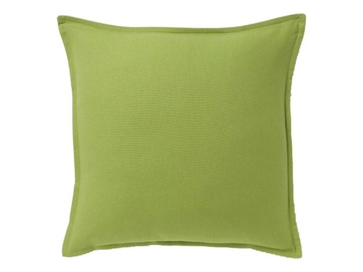 Poduszka GoodHome Hiva 45 x 45 cm zielona Poliester Kwadratowe Bawełna Poduszka dekoracyjna 45x45 cm Wzór Jednolity Pomieszczenie Salon