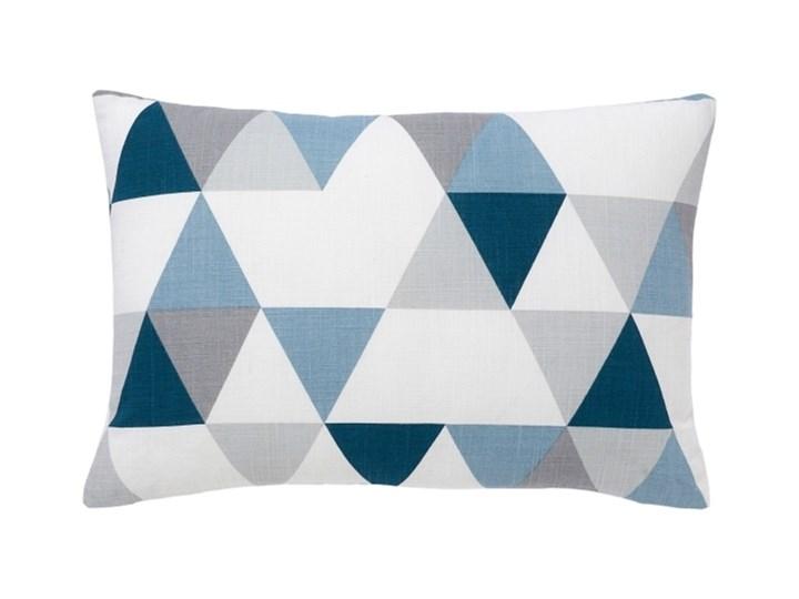 Poduszka GoodHome Rima 40 x 60 cm niebieska Poduszka dekoracyjna Kolor 40x60 cm Bawełna Poliester Prostokątne Pomieszczenie Pokój nastolatka