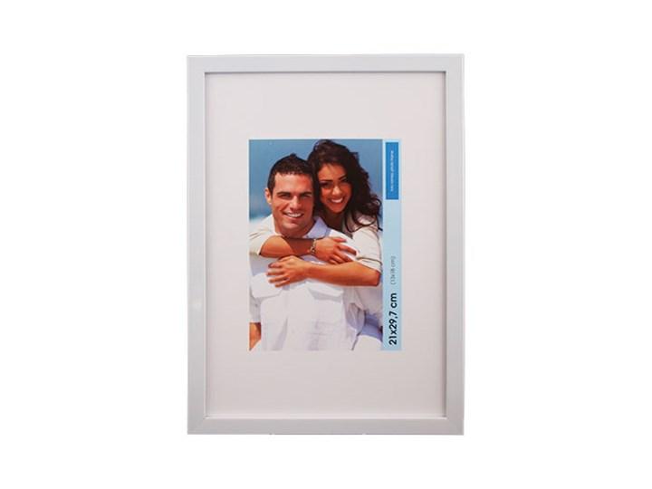 Ramka na zdjęcia 30 x 40 cm połysk biała Tworzywo sztuczne Rozmiar zdjęcia 33x43 cm