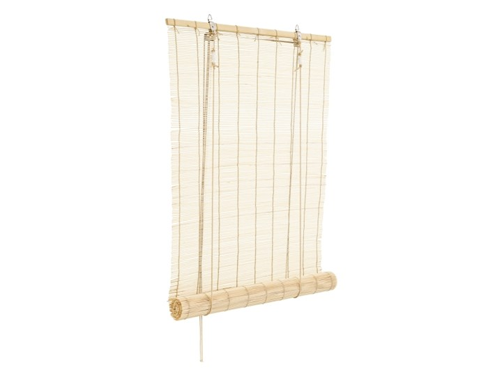 Roleta Bambus 120 x 180 cm natural Wzór Paski Roleta wolnowisząca Kolor Beżowy