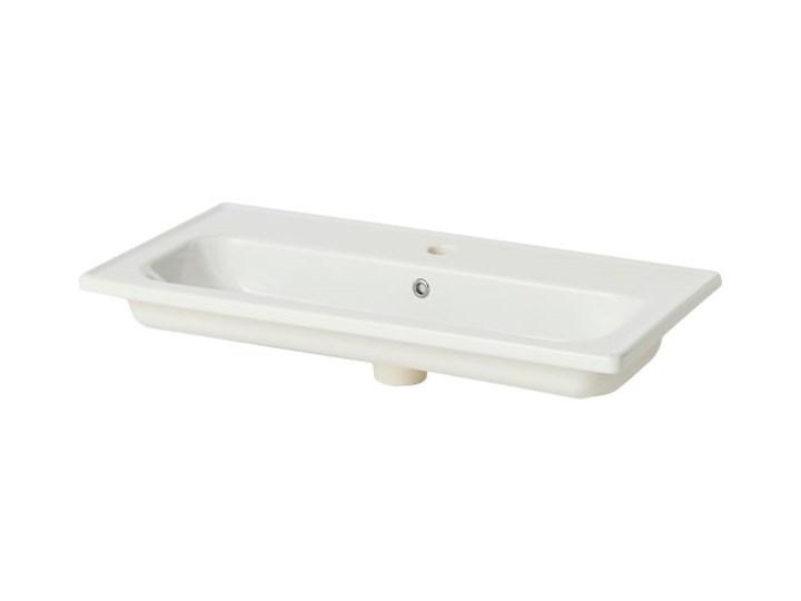 Umywalka ceramiczna GoodHome Towan 80 cm Ceramika Kategoria Umywalki Prostokątne Kolor Biały