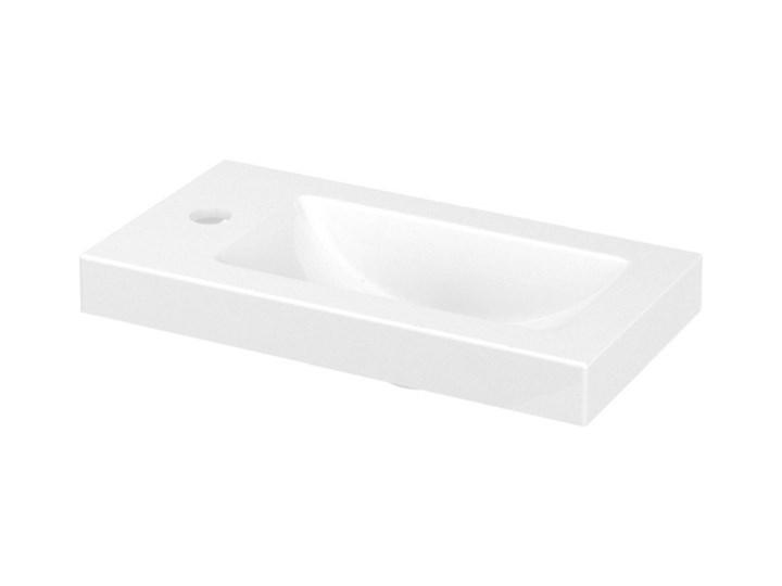 Umywalka konglomeratowa GoodHome Beni 44 cm Prostokątne Kategoria Umywalki Kolor Biały