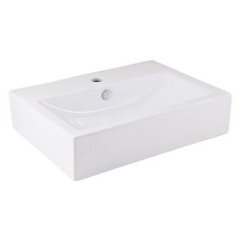 Umywalka nablatowa ceramiczna GoodHome Albena 54 x 40 cm biała