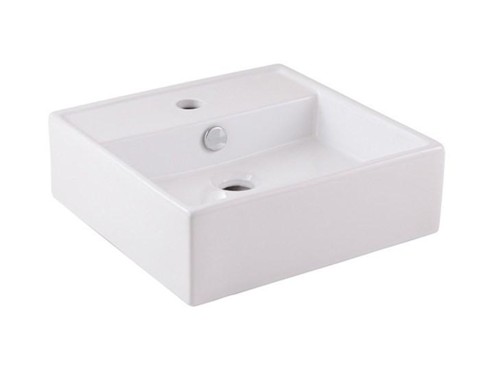 Umywalka nablatowa ceramiczna GoodHome Hendra 38 x 38,5 cm biała Nablatowe Ceramika Szerokość 38 cm Kwadratowe Kolor Biały Kategoria Umywalki