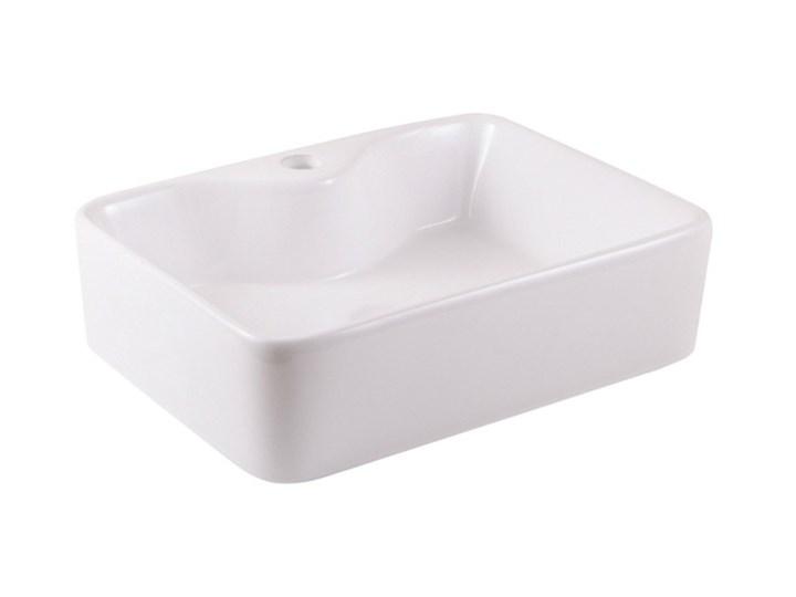 Umywalka nablatowa ceramiczna GoodHome Morfa 48 x 37 cm biała