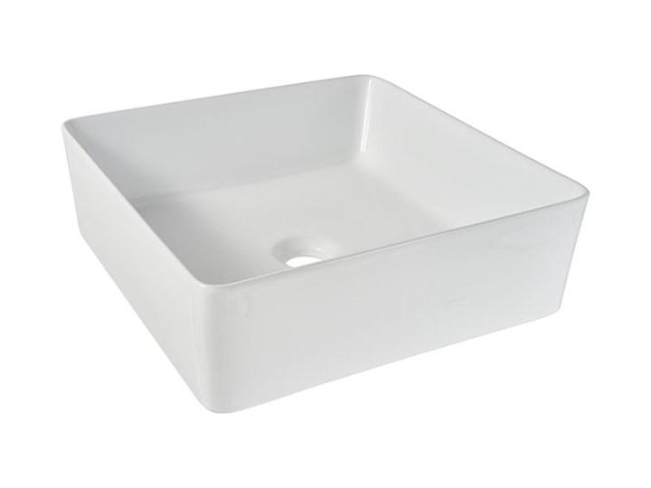 Umywalka nablatowa ceramiczna GoodHome Padma 38,5 x 38,5 cm biała