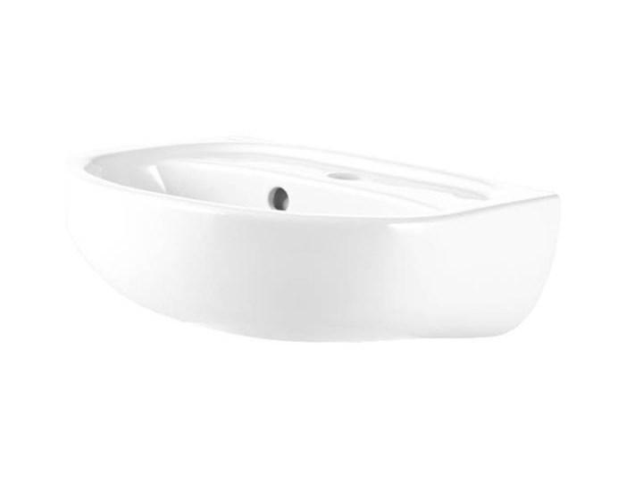 Umywalka ścienna ceramiczna Koło Solo 40 x 33 cm biała z otworem na armaturę Kolor Biały Ceramika Podwieszane Półokrągłe Szerokość 40 cm Kategoria Umywalki