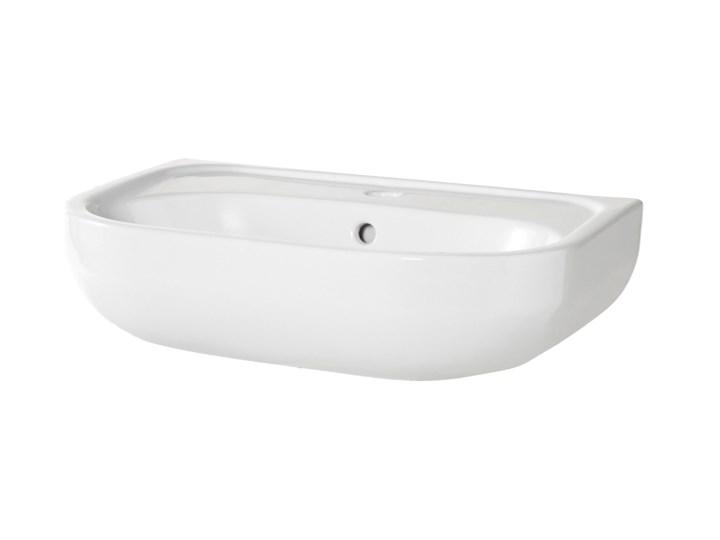 Umywalka ścienna GoodHome Cavally 40 x 56 cm z otworem na armaturę Szerokość 40 cm Kategoria Umywalki Podwieszane Prostokątne Kolor Biały