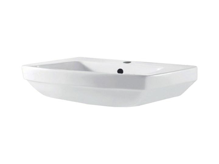 Umywalka ścienna GoodHome Zapia 59,5 x 44 cm z otworem na armaturę Szerokość 59 cm Szerokość 60 cm Podwieszane Prostokątne Ceramika Kategoria Umywalki
