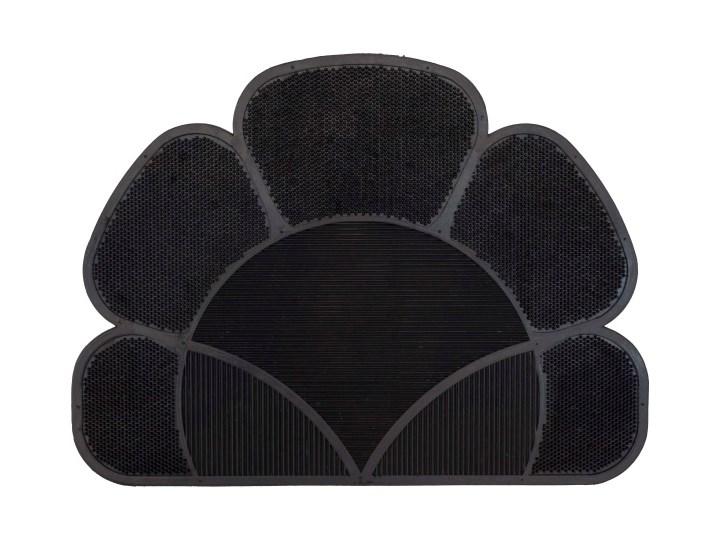 Wycieraczka Flower 41 x 55 cm czarna Guma Kolor Czarny
