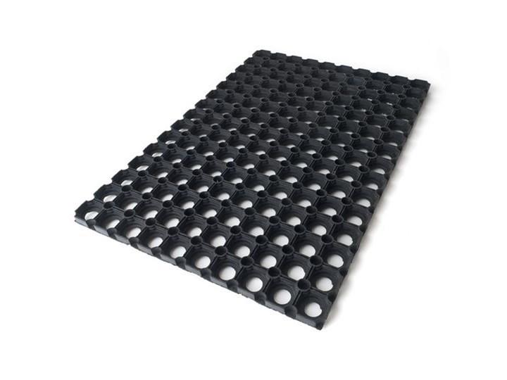 Wycieraczka gumowa Colours 40 x 60 cm czarna Guma Kolor Czarny