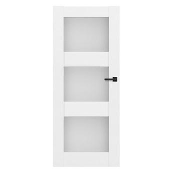 Drzwi pokojowe Tre 80 lewe białe