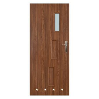Drzwi z tulejami Everhouse Roma 80 lewe akacja