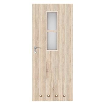 Drzwi z tulejami Olga 60 prawe dąb sonoma