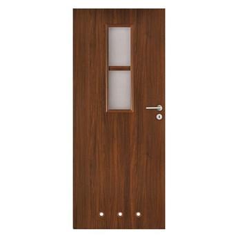 Drzwi z tulejami Olga 70 lewe orzech