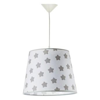 Lampa wisząca 1 x 40 W E27 szare gwiazdy