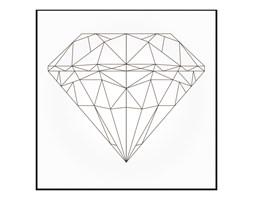 Obraz Deco box Diament 50 x 50 cm