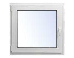 Okno PCV rozwierno-uchylne 565 x 535 mm lewe białe
