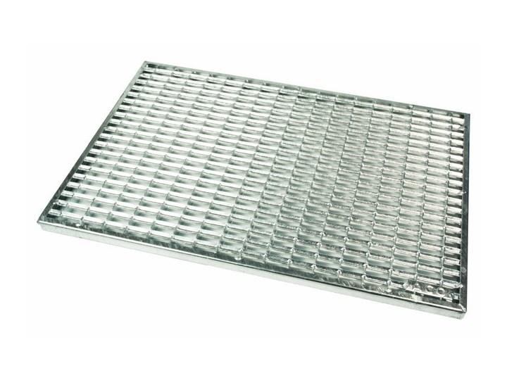 Ruszt wycieraczki ACO 60 x 40 cm ocynkowany Metal Kolor Szary
