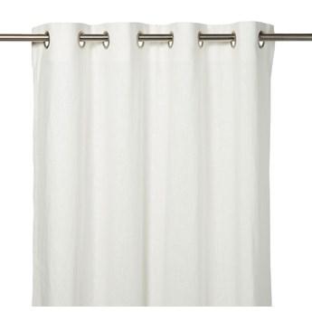 Zasłona GoodHome Dellys 130 x 260 cm biała