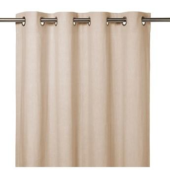 Zasłona GoodHome Dellys 130 x 260 cm kremowa