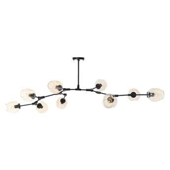 Lampa wisząca Step into design Modern Orchid-9 bursztynowo-czarna kod: 5903351255233