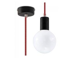 Lampa wisząca Sollux Lighting Edison czarno-czerwona kod: SL.0158