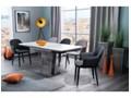 Krzesło tapicerowane Binro szare
