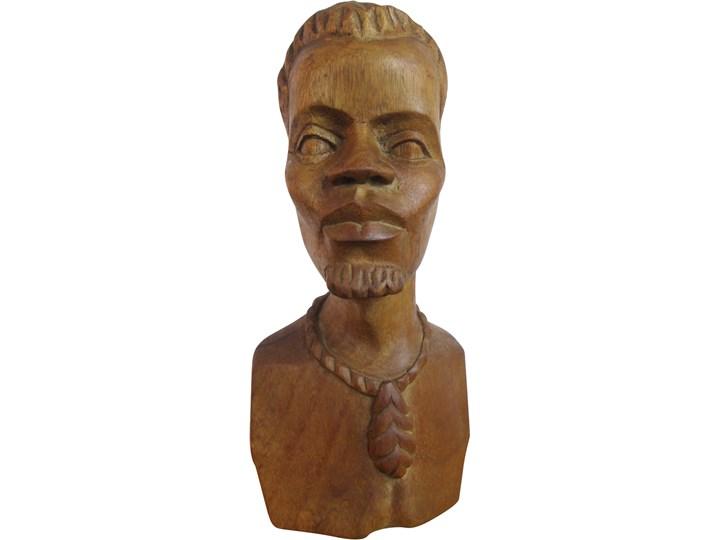 Figurka Afrykanina z drewna, lata 70. Drewno Drewno