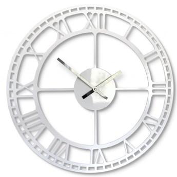 Metalowy zegar ścienny biały vintage 50cm