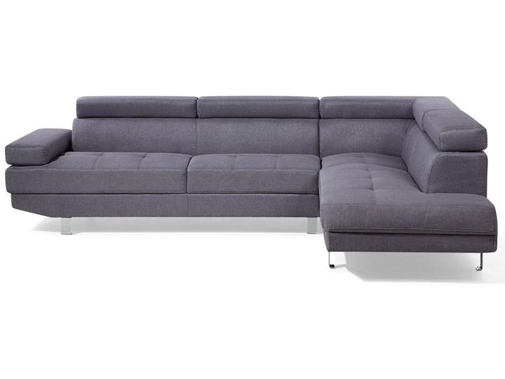 Narożnik lewostronny szary tapicerowany 5 osobowa sofa z regulowanymi zagłówkami Typ Gładkie W kształcie L Strona Lewostronne