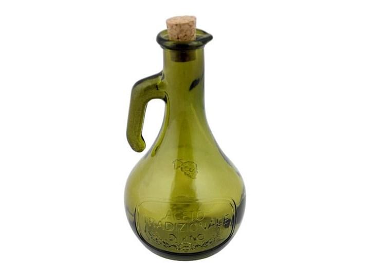 Zielona butelka na ocet ze szkła z recyklingu Ego Dekor Di Vino, 500 ml Szkło Zestaw do przypraw Pojemnik na ocet i oliwę Kolor Zielony