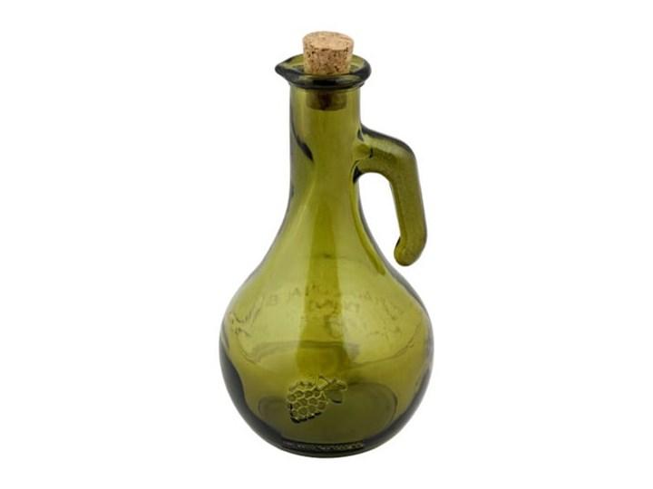 Zielona butelka na ocet ze szkła z recyklingu Ego Dekor Di Vino, 500 ml Pojemnik na ocet i oliwę Szkło Zestaw do przypraw Kolor Zielony
