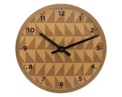 Zegar do pokoju dziecięcego, ścienny, wskazówkowy, żółty z motywem geometrycznym, Ø 22 cm