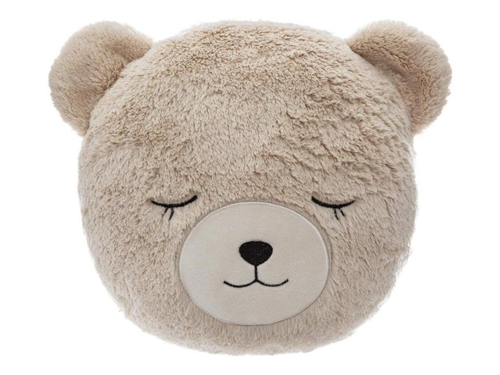 Poduszka ozdobna do łóżeczka dziecięcego, motyw niedźwiadka, 27 x 27 cm, kolor brązowy