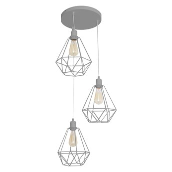 Lampa wisząca industrialna druciana KARO W-KD 1311/3 GR