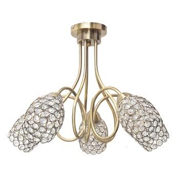 Patynowy żyrandol z kryształkami DANNI W-HY 1547/5 AB