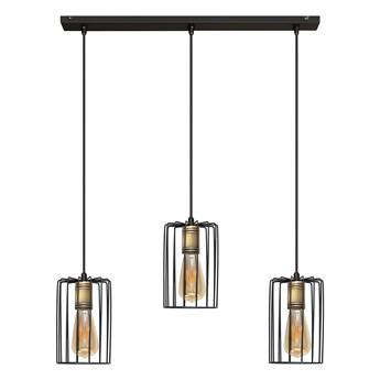 Lampa wisząca potrójna FARGO W-L 1401/3 BK+AB