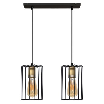 Lampa wisząca podwójna FARGO W-L 1401/2 BK+AB